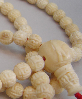 Ivory Buddhist Mala Carved Ivory Malas In 8 Mm 9mm 10 Mm